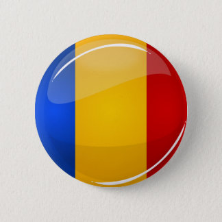 Glossy Round Romanian Flag 6 Cm Round Badge