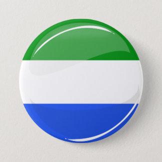 Glossy Round Sierra Leone Flag 7.5 Cm Round Badge