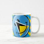 Glossy Round Smiling St. Lucia Flag Basic White Mug