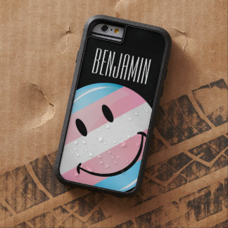 Glossy Round Smiling Transgender Flag Tough Xtreme iPhone 6 Case