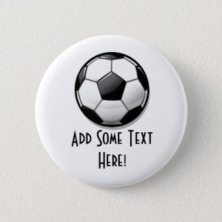Glossy Round Soccer Ball 6 Cm Round Badge