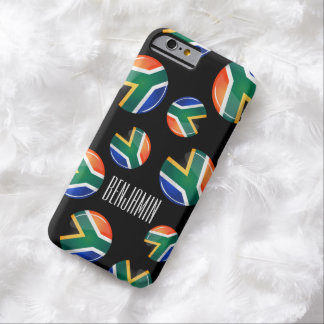 Glossy Round South African Flag Barely There iPhone 6 Case