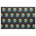 Glossy Round South African Flag Fabric