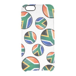 Glossy Round South African Flag iPhone 6 Plus Case