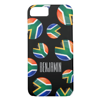 Glossy Round South African Flag iPhone 7 Case