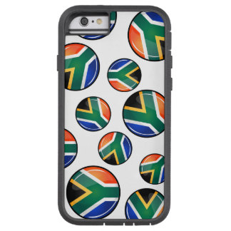Glossy Round South African Flag Tough Xtreme iPhone 6 Case