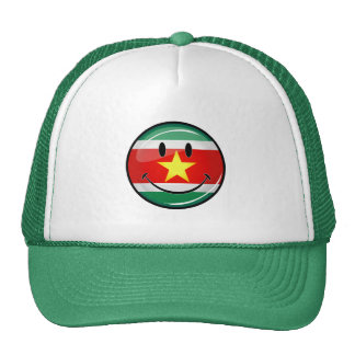 Glossy Round Suriname Flag Cap