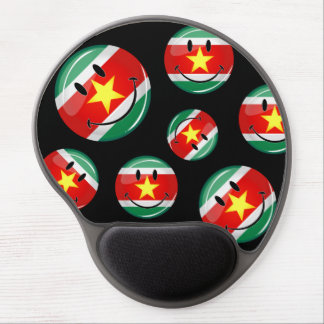 Glossy Round Suriname Flag Gel Mouse Pad