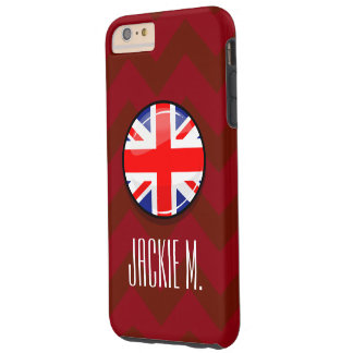 Glossy Round UK English Flag Tough iPhone 6 Plus Case