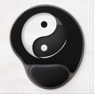 Glossy Round Yin Yang Symbol Gel Mouse Pad