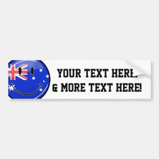 Glossy Smiling Australian Flag Bumper Sticker
