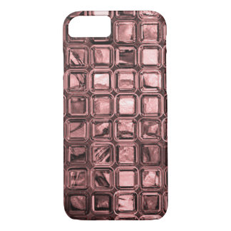 glossy tiles, peach (I) iPhone 7 Case