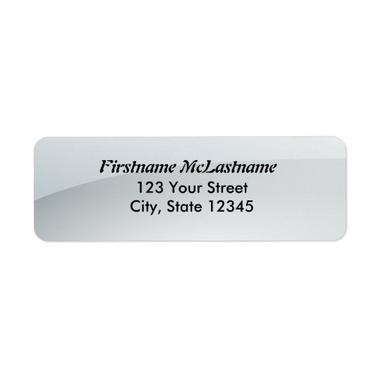Glossy white address labels