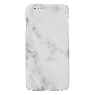 Glossy White Marble iPhone CASE iPhone 6 Plus Case