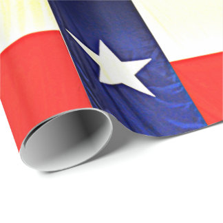 Glossy Wrapping Paper - Texas Flag