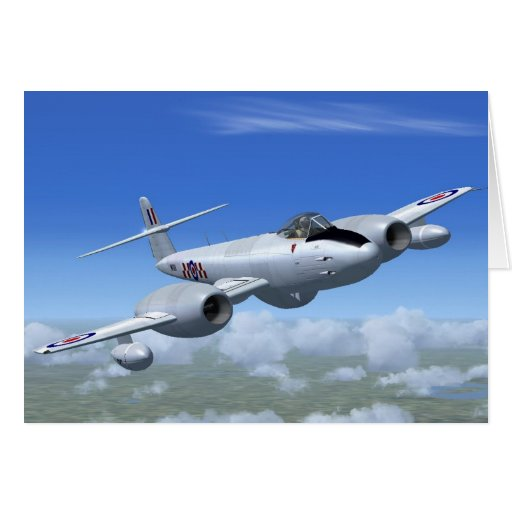 Gloster Meteor Jet Fighter Plane Cards