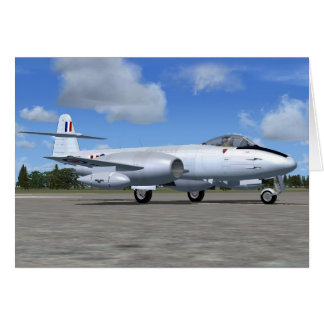 Gloster Meteor Jet Fighter Plane Greeting Card