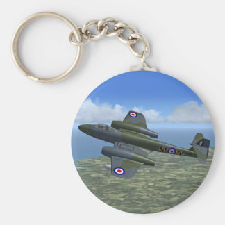 Gloster Meteor Jet Fighter Plane Key Ring