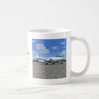 Gloster Meteor Jet Fighter Plane Classic White Coffee Mug