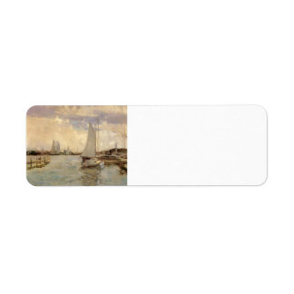 Gloucester Harbor by John Henry Twachtman Return Address Label