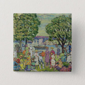 Gloucester Harbour (oil on canvas) 15 Cm Square Badge