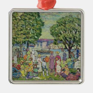 Gloucester Harbour (oil on canvas) Christmas Ornament