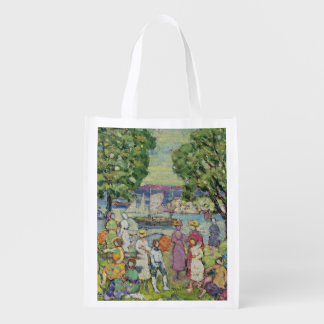Gloucester Harbour (oil on canvas) Grocery Bags