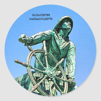 GLOUCESTER  MASSACHUSETTS CLASSIC ROUND STICKER