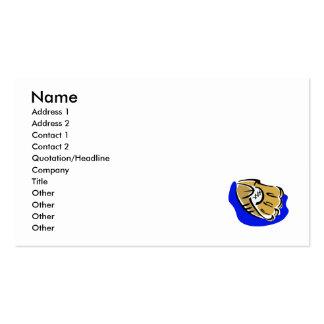 glove & ball business card
