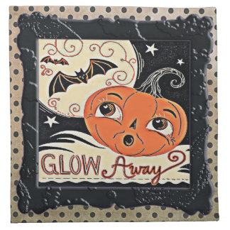 Glow Away Pretty Little Pumpkin Napkin