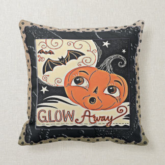 Glow Away Pretty Pumpkin Cushion