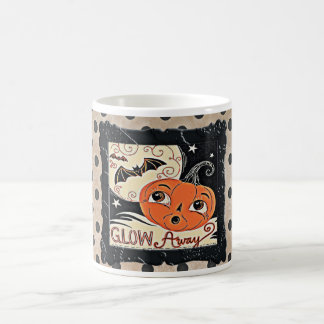 Glow Away, the Pretty Halloween Pumpkin Coffee Mug