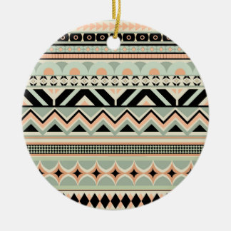 Glow aztec pattern christmas ornament