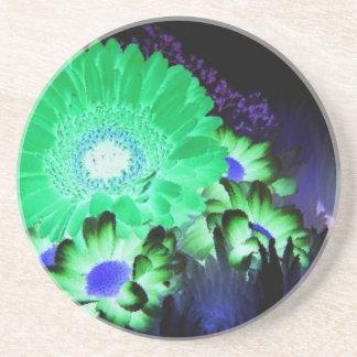 Glow Flowers Beverage Coasters