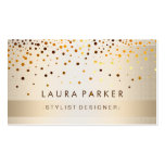 Glow Glitter Gold Elegant Background Pack Of Standard Business Cards
