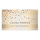 Glow Glitter Gold Elegant Background Pack Of Standard Business Cards