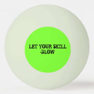 """Glow"" Glow-In-The-Dark Ping Pong Ball"