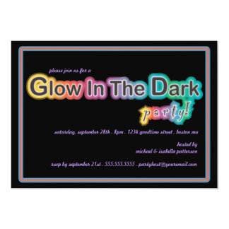 Glow In The Dark Party Invitations Announcements Zazzle Co Uk