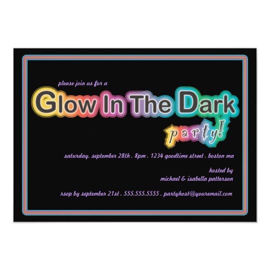 Glow in the Dark Blacklight Party Invitation