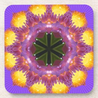 Glow Mandala Glow! Beverage Coaster