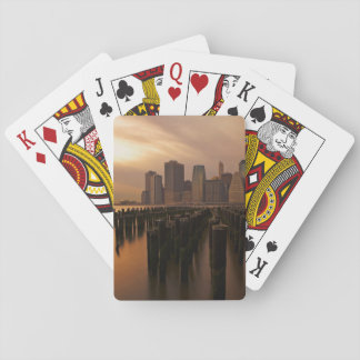 Glow of sunset during stormy skies over East Playing Cards