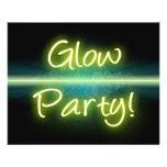 Glow Party, Yellow/Green Blacklight 11.5 Cm X 14 Cm Flyer