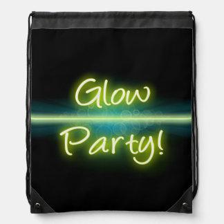 Glow Party, Yellow/Green Blacklight Rucksack