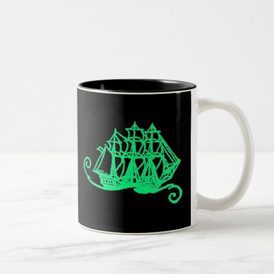 Glow Pirates! Two-Tone Coffee Mug