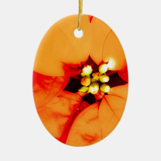glow plant theme ceramic oval decoration