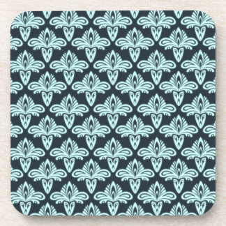 Glow style abstract pattern beverage coaster