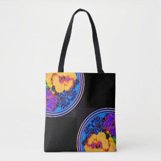 Glow tropical hibiscus Kibuki Tote Bag