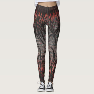 Glow with the flow (in red) leggings