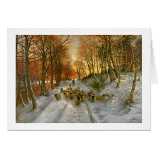 Glowed with Tints of Evening Hours Greeting Card