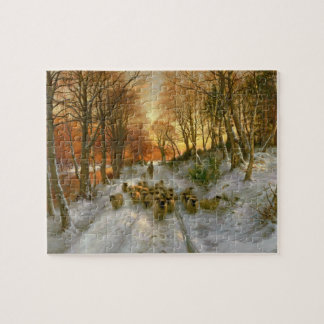 Glowed with Tints of Evening Hours Jigsaw Puzzle